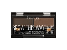 Paletica za obrve Rimmel London Brow This Way 2,4 g 003 Dark Brown