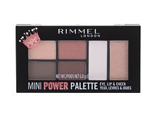 Dekorativna kozmetika Rimmel London Mini Power Palette 6,8 g 003 Queen