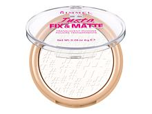 Puder u prahu Rimmel London Insta Fix & Matte 8 g 001 Translucent