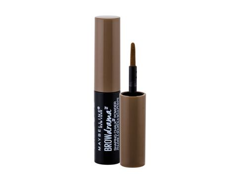 Puder za obrve Maybelline Brow Drama Shaping Chalk 1 g 120 Medium Brown