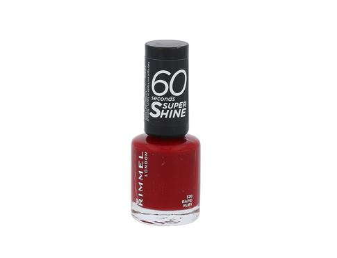 Lak za nokte Rimmel London 60 Seconds Super Shine 8 ml 320 Rapid Ruby