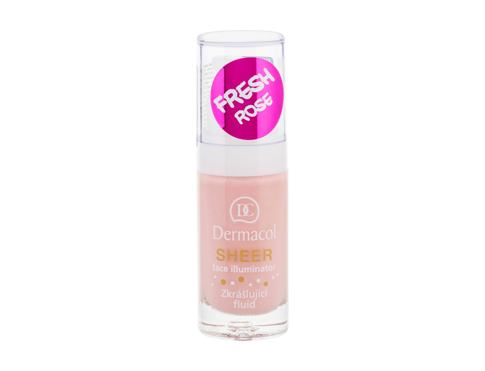 Podloga za šminke Dermacol Sheer Face Illuminator 15 ml fresh rose