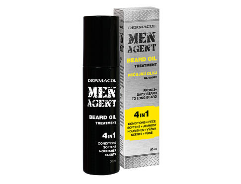 Ulje za bradu Dermacol Men Agent Beard Oil 4in1 50 ml