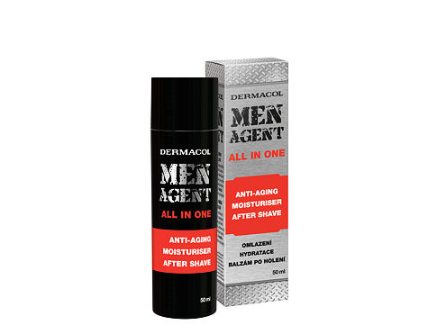 Balzam nakon brijanja Dermacol Men Agent Anti-Aging Moisturiser After Shave All In One 50 ml