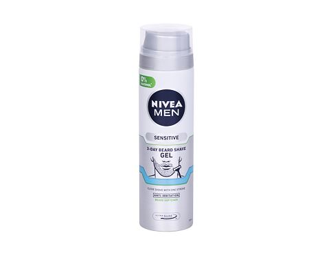 Gel za brijanje Nivea Men Sensitive 3-Day Beard 200 ml