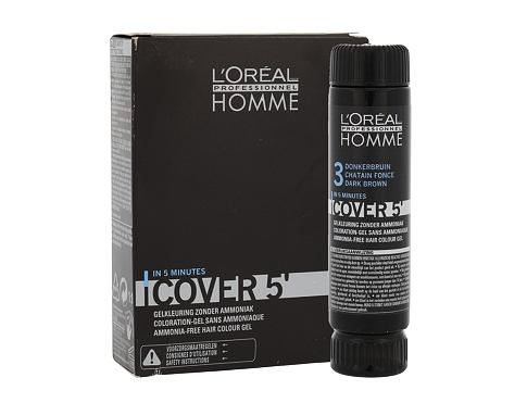 Boja za kosu L´Oréal Professionnel Homme Cover 5´ 3x50 ml 3 Dark Brown