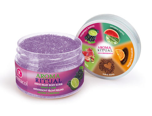 Piling za tijelo Dermacol Aroma Ritual Grape & Lime 200 g