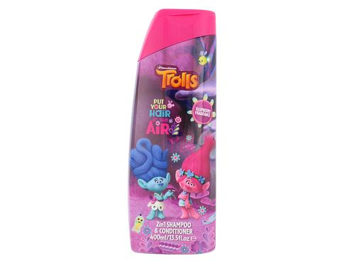 Šampon DreamWorks Trolls 2in1 Shampoo & Conditioner 400 ml